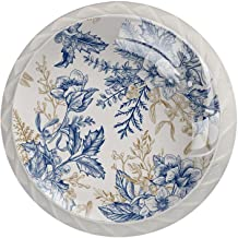 Blauwe en gouden bladeren, 4-Pack van ABS hars keukenkast knoppen trekt ronde afdrukken dressoir knoppen lade handgrepen k...