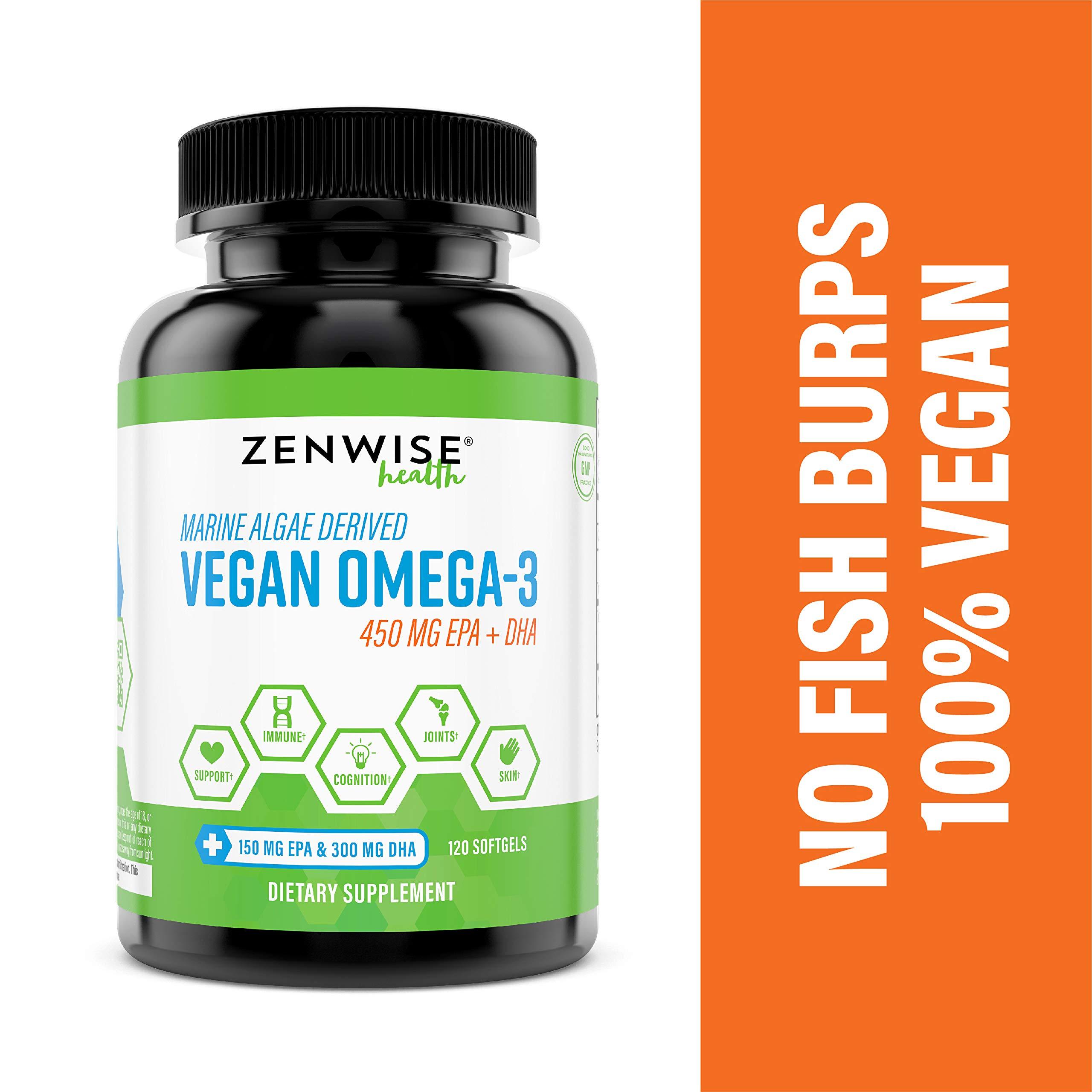 Vegan Omega Supplement Support Softgels
