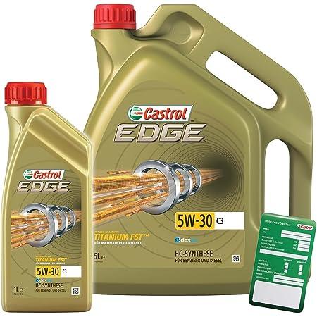Castrol Edge Fluid Titanium 5w 30 C3 Engine Oil With Castrol Oil Change Trailer 1 L 5 L 6 Litres Auto