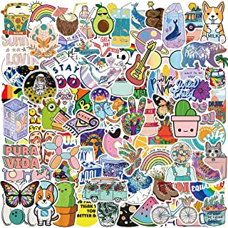 100 PCS Cute Cool Vinyl Stickers Pack - Laptop, Water Bottles, Waterproof, Computer Stickers for Kids Teens Girls.