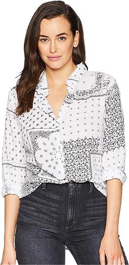 Bandana Print Long Sleeve Shirt