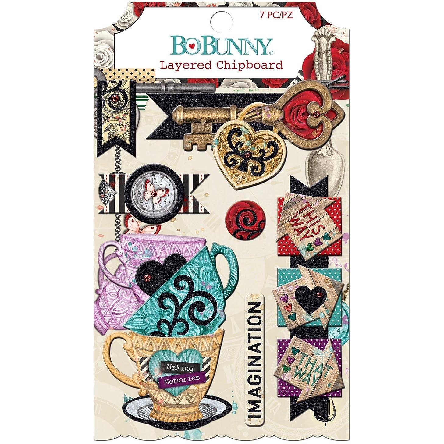 Bo Bunny 7310347 Chipboard Embellishment, Multicolor