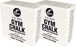 Cramer Block Chalk & Liquid Gym Chalk, Magnesium Carbonate for Better Grip in Gymnastics, Weightlifting, Power Lifting, Pole Fitness, Rock Climbing