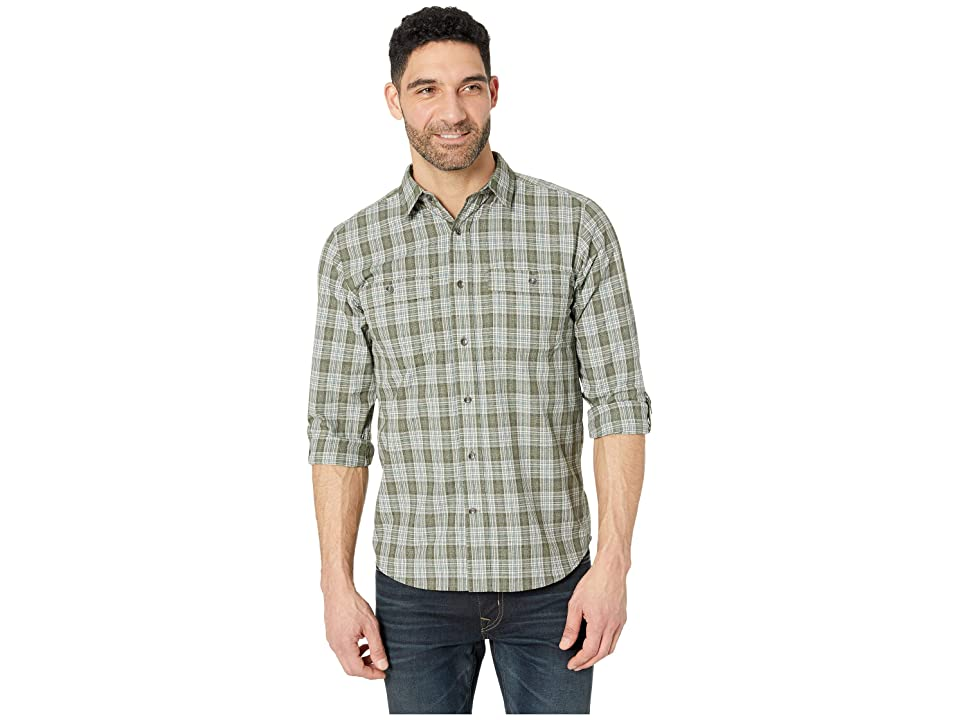 Royal Robbins Vista Dry Plaid Long Sleeve Shirt (Loden) Men