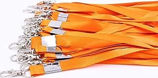 Neck Lanyards for Id Badges - LeBeila Id Badge Lanyard Bulk Order 30pcs Nylon Neck Strap for Badges, ID Holder & Cards (30pcs, Orange)