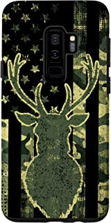 Galaxy S9+ Whitetail Buck Deer Hunting American Camouflage USA Flag Case