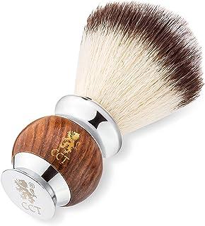 De Cambridge Cut Throat® Premium Houten en Roestvrijstalen Scheerkwast voor Mannen, Scheerborstel voor Zeep, Schuim of Crè...