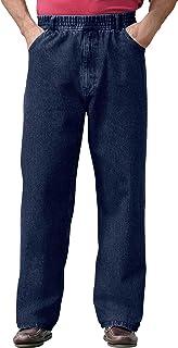 Men's Big & Tall Loose Fit Comfort Waist Jeans