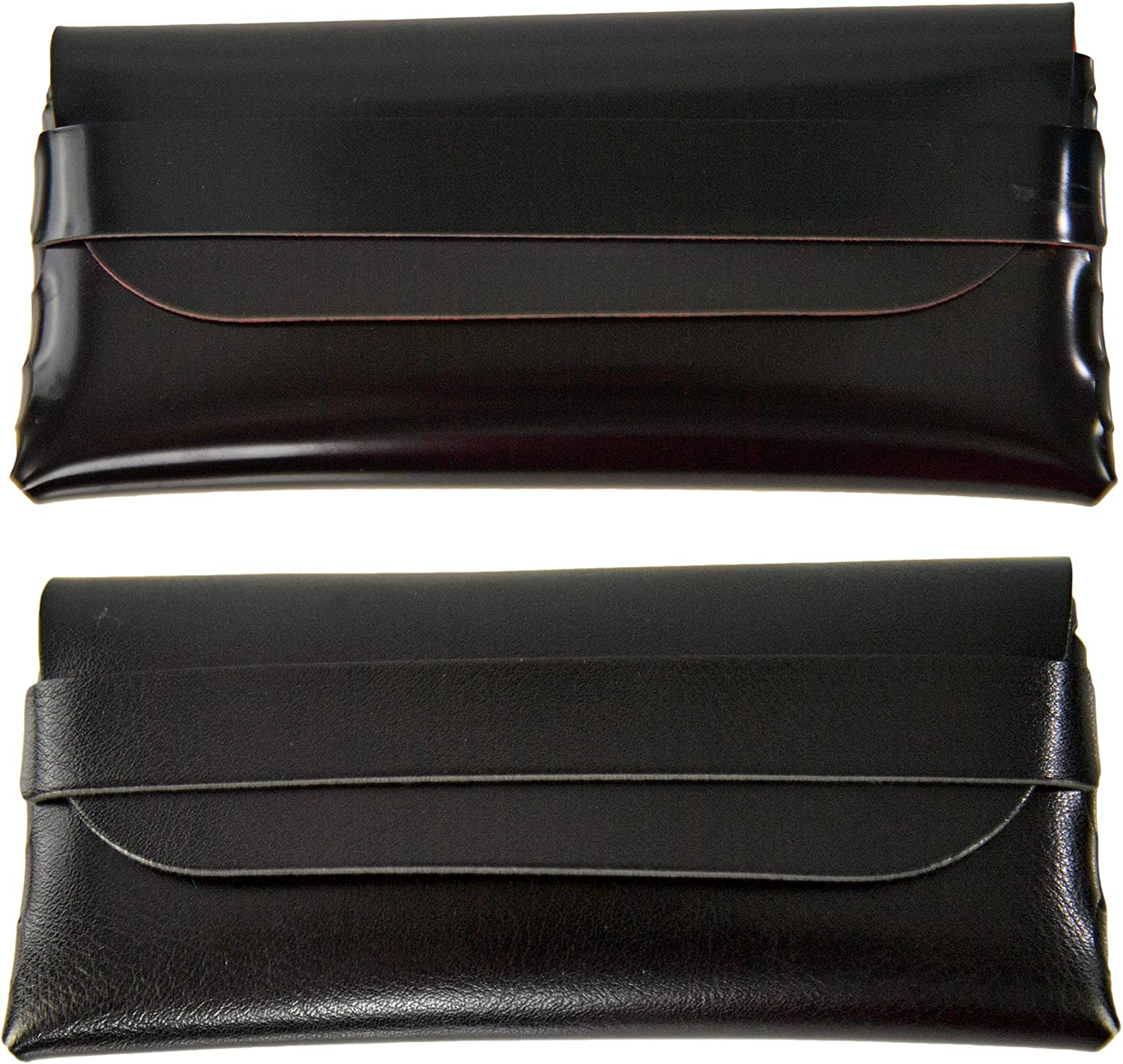 HOME- X Set of 2 Soft Fold-Over Eyeglass Cases, Reading Glasses Cases, Eyeglass Pouches, Set of 2, 6 ¾