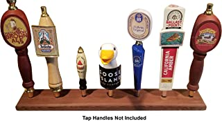 Beer Tap Handle Display Stand | Reclaimed Redwood, Hand Made in USA, holds Seven (7) Tap Faucet Handles