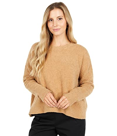 Eileen Fisher Organic Cotton Boucle Sweater (Honey) Women