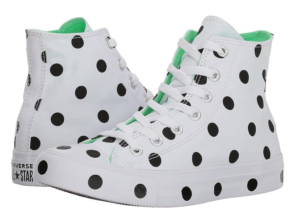 Converse Chuck Taylor(r) All Star(r) Hi Dots (White/Black/Illusion Green) Women