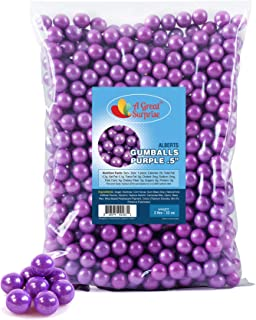 Purple Gumballs for Candy Buffet - Apx. 620 Gumballs - 2 Pounds - Mini Shimmer Gumballs - Purple Candy -1/2 Inch , Bulk Candy