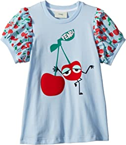 Fendi Kids Cherry Graphic T-Shirt w/ Cherry Sleeves (Toddler)