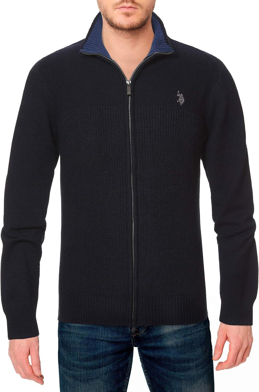 U.S. Polo Ranking New Orleans Mall TOP1 Assn. Men's Sweater Full-Zip Collar