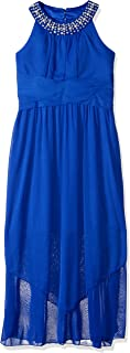 Girls' Big Full Length U-Neck Party Dress
