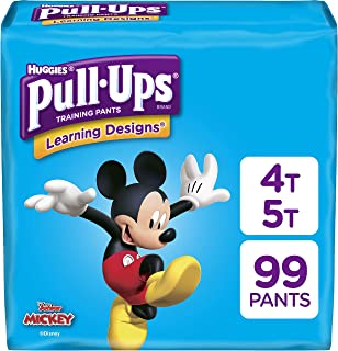 Pull-Ups Learning Designs Potty Training Pants for Boys, Size 4T-5T (38-50 Pounds), 99 Count, One Month Supply (Packaging May Vary)