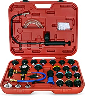 Steelman Master Cooling System Test and Purge Auto Kit, 27-Piece Kit, Leak and Pressure Test, Vacuum Purge Kit, Storage Case Included