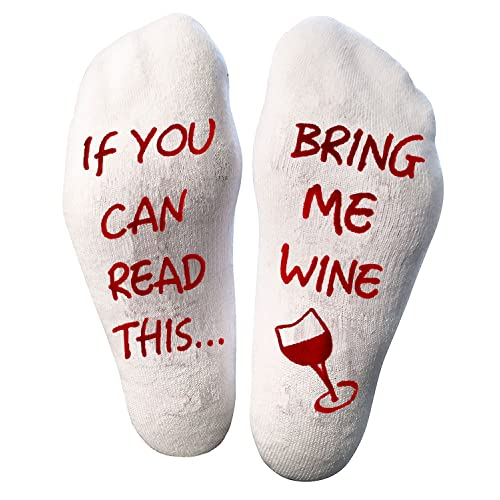 Atlecko Funny - Bring Me Wine Socks - Thick Cotton, Washable - Perfect Christmas  gifts - Christmas Gifts For Wife: Amazon.co.uk