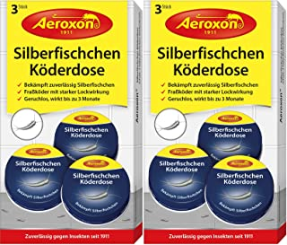 AEROXON Trampa para parásitos, pececillos de plata, sótanos, cucarachas y pez de papel 2x3