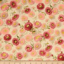 Andover 0575219 Sequoia Daisies Touch of Pink Fabric by the Yard