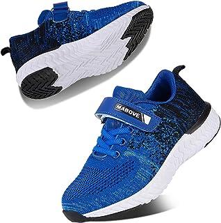 Kyopp Scarpe sportive per bambini atletici ragazzi e ragazze casual scarpe da corsa slip on sneakers bambini leggero trasp...