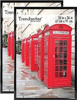 MCS Trendsetter 24x36 Inch Poster Frames (2pk), Black (65680)