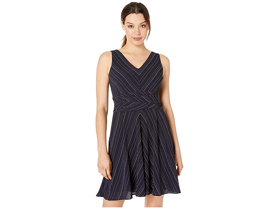 LAUREN Ralph Lauren Carmelia Dress (Lighthouse Navy/Colonial Cream) Women