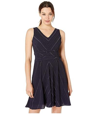 LAUREN Ralph Lauren Carmelia Dress (Lighthouse Navy/Colonial Cream) Women