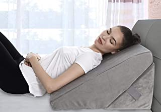 Bed Wedge Pillow – Adjustable 9&12 Inch Folding Memory Foam Incline Cushion..