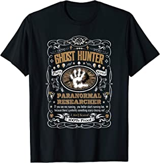 Vintage Whiskey Label Ghost Hunter T-Shirt