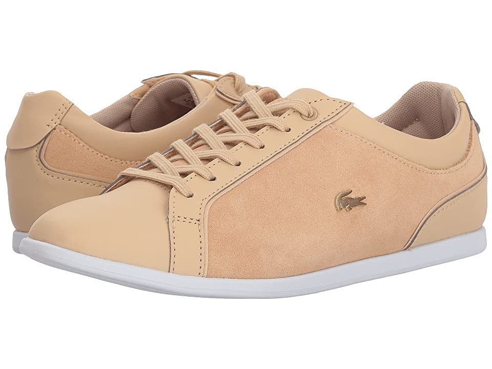Lacoste Rey Lace 218 1 (Natural/White) Women