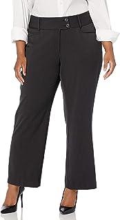 Rafaella Women's Plus Size Curvy Fit Gabardine Bootcut Trouser