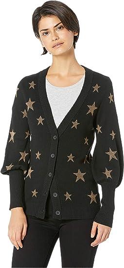Gold Star Bishop Sleeve Button Down Cardigan