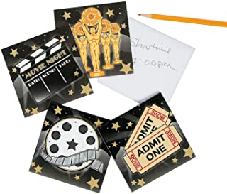 Fun Express Movie Night Paper Notepads   24 Count   Great for Birthday Parties, Hollywood/Oscars Theme