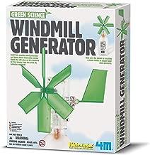 4M Green Science Windmill Generator Kit (Packaging May Vary) DIY Green Alternative Energy Lab - STEM Toys Educational Gift for Kids & Teens, Girls & Boys