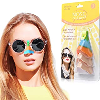 UV Nose Guards for Glasses - Nose Sun Protection - Sun Nose Guard - UV Nose Guard Shield UPF 50+ - Nose Sun Guard - Sun Nose Protector - Set of 3 Nose UV Guard - Upgraded 2020