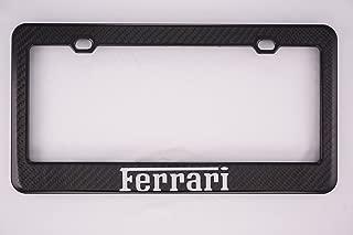 Fit Ferrari Carbon Fiber License Plate Frame
