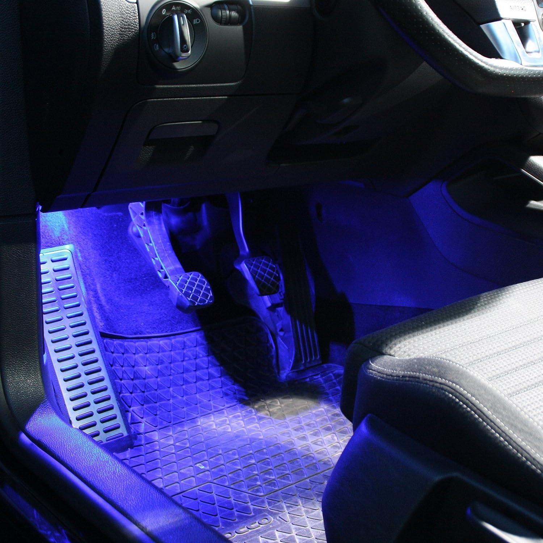 2x Led Module Fußraumbeleuchtung Weiß Blau Rot Smd Modul Fußraum Set 2 Weiß Auto
