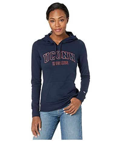 Champion College UConn Huskies Eco(r) University Fleece Hoodie (Navy) Women