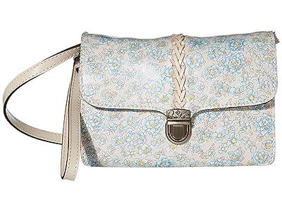 Patricia Nash Bianco Crossbody (Pastel Turquoise Bouquet Print) Cross Body Handbags