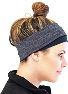 Red Dust Active Running Headband and Winter Ear Warmer for Women – for Sport, Workouts and Cold Weather Athletic Adventures – Never Itchy – Always Stays Put – Ponytail Compatible