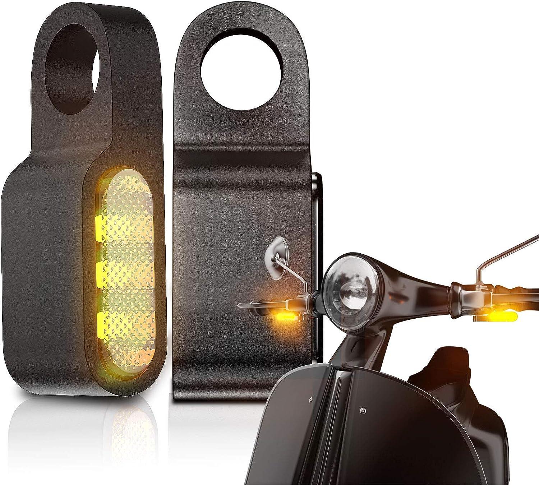 CCAUTOVIE Pair Turn Signal Motorcycle Cheap Tampa Mall bargain T Lights Blinker Mini LED