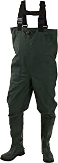 Frogg Toggs Cascades 2-ply Poly/Rubber Bootfoot Chest Wader, Cleated or Felt Outsole