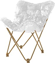 Urban Shop WK657560 Mongolian Butterfly Chair, White