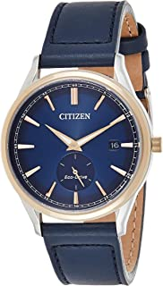 CITIZEN Mens Solar Powered Watch, Analog Display and Leather Strap - BV1114-18L