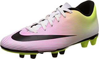 New Men's Mercurial Vortex II FG Soccer Cleat White/Volt/Orange 11