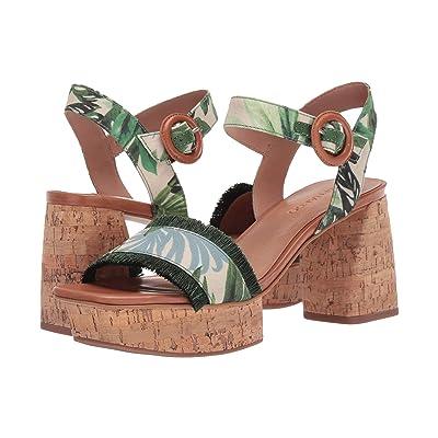 Bernardo Reagan Heeled Sandal (Palm Fabric) Women