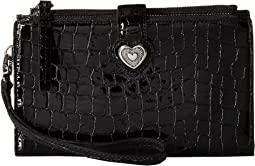 Bellissimo Heart Double Zip Wallet