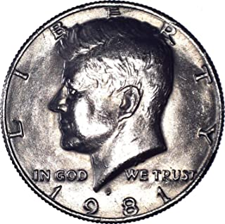1981 P Kennedy Half Dollar 50C Brilliant Uncirculated